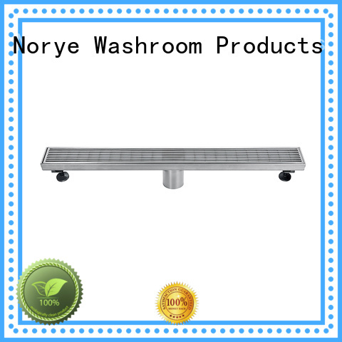 foldable shower drain with cushion pad for washrooms