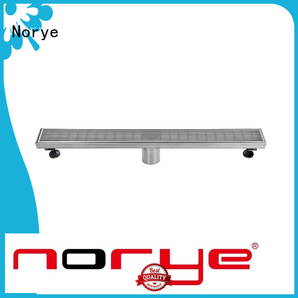 Norye best stainless steel linear drain factory for washrooms