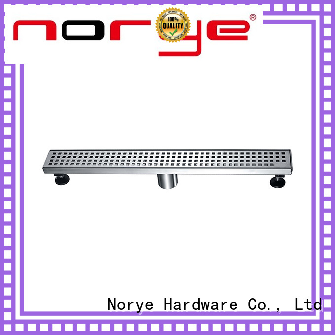 Norye white coated finish stainless steel drain directly sale for disabled people