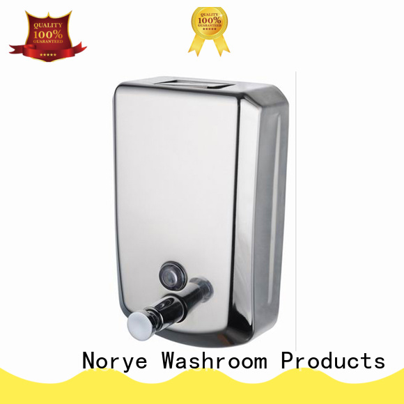 Norye stainless wall mounted liquid soap dispenser