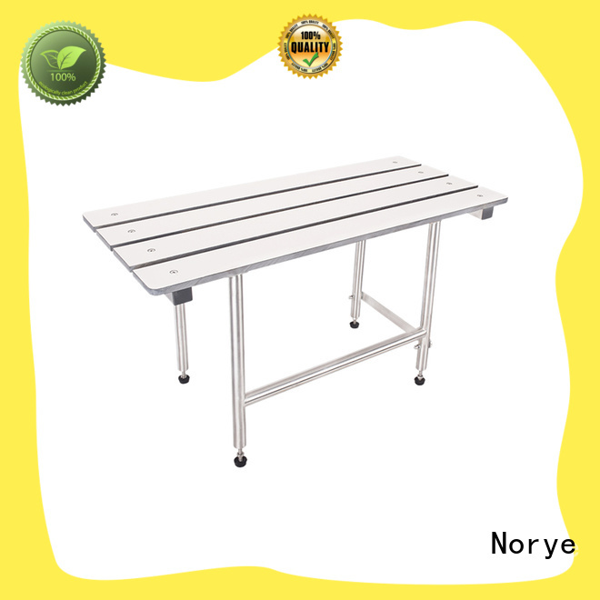 white coated finish folding shower seat factory direct supply for residential