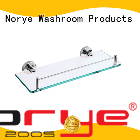 with square base stainless toilet brush glass for bathroom Norye