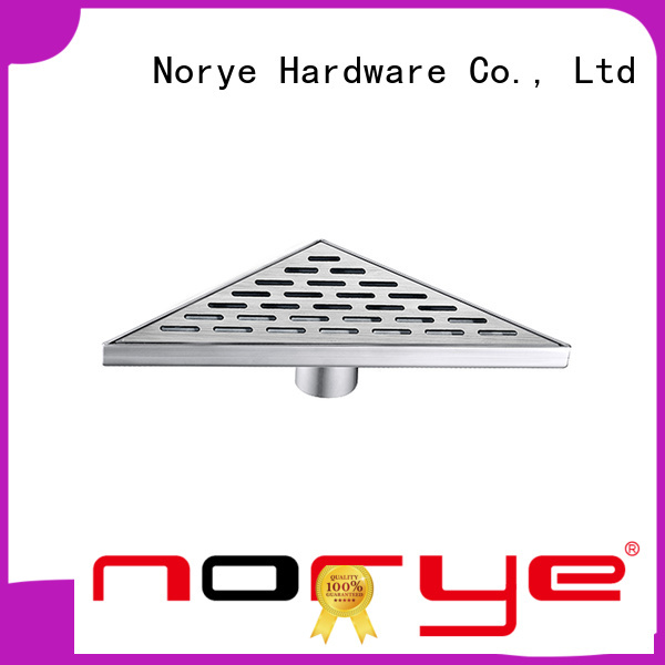 Norye white coated finish trough drain design for bathroom